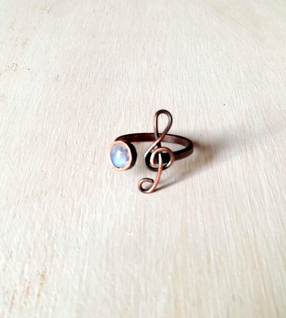 anello con chiave di sol